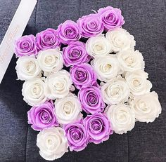 "Grand Fleurs® Official no Instagram: ""Sweet Lilac x White💜Tag someone whose name starts with the letter J 🌹"" Flower Letters, Letter J, Floral Arrangements, Lilac, Rose, Sweet, Flowers, Instagram, Initials"