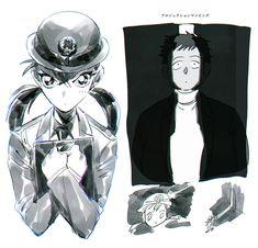 Magic Kaito, Conan, Detective, Police, Kawaii, Anime, Kids, Art, Young Children