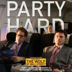 Party hard with available to own today! Wolf Of Wall Street, Partying Hard, Martin Scorsese, Matthew Mcconaughey, Leonardo Dicaprio, Work Hard, I Laughed, Actors, Digital