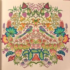 Johanna Basford's Enchanted Forest book completes with Prismacolors. Forest Coloring Pages, Coloring Book Art, Adult Coloring, Enchanted Forest Book, Enchanted Forest Coloring Book, Joanna Basford, Johanna Basford Secret Garden, Forest Tattoos, Johanna Basford Coloring Book