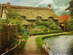 English Cottage Life, Thornton-le-Dale, North Yorkshire by Philip Ed, via Flickr