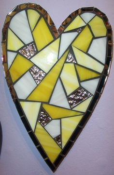 """Pineapple & Coconut"" Mosaic Heart"