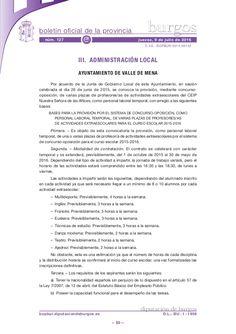 BASES PARA LA PROVISIÓN POR EL SISTEMA DE CONCURSO-OPOSICIÓN, COMO PERSONAL LABORAL TEMPORAL, DE VARIAS PLAZAS DE PROFESORES/AS DE ACTIVIDADES EXTRAESCOLARES PARA EL CURSO ESCOLAR 2015-2016