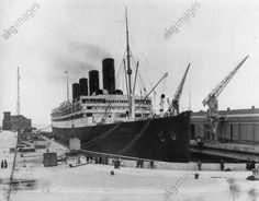 """Le Transatlantique anglais """"Aquitania"""" (construit en 1914).  Photo, non datée.akg-images -"""