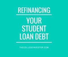 Here are three factors to consider when thinking about refinancing your student loan debt. http://thecollegeinvestor.com/16565/3-factors-to-consider-when-refinancing-student-loans/ student loan debt student loan debt payoff #debt #studentloan