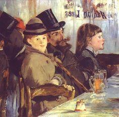 At the Cafe Édouard Manet Peintures à l'huile