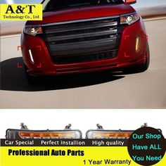 Nice Ford: (68.57$)  Watch now - aighg.worlditems.... - A&T car styling New 6 LED Daytime R...  Best 2017 Ali things☇ Check more at http://24car.top/2017/2017/05/06/ford-68-57-watch-now-aighg-worlditems-at-car-styling-new-6-led-daytime-r-best-2017-ali-things%e2%98%87/