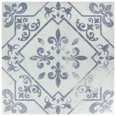 Merola Tile Atlantic Azul in. Ceramic Floor and Wall Tile sq. / - The Home Depot Glass Mosaic Tiles, Wall Tiles, Backsplash Tile, Backsplash Ideas, Home Depot, Best Flooring For Kitchen, Wall Patterns, Wallpaper Patterns, Tile Floor