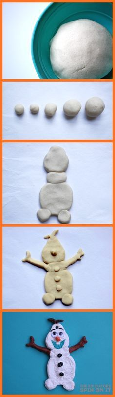 DIY Olaf Salt Dough Ornament a Kid Friendly Holiday Craft from The Educators' Spin On It