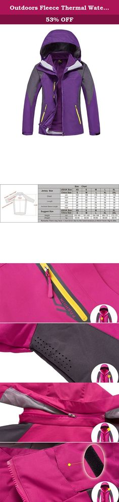 Outdoors Fleece Thermal Waterproof Jackets Windproof Mountain Jackets SM002 Women's Purple XXXL. We aim to be a good seller to provide perfect products and service for our brilliant customer. 1. Note: This is Asian size,and it is smaller than US size one size.we suggest you choose one larger size for that. 2. Quality Insurance: To ensure what you received the best item, all the products we sell from manufacturing - stocking - packing - shipping have passed strict quality test. 3…