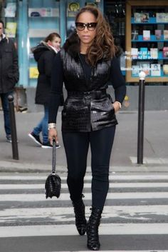 From New York to Paris Fashion Week, fashion diva extrodinaire Marjorie Harvey has done it again! See how she slayed everywhere she sashayed. Diva Fashion, All Fashion, Fashion Beauty, Fashion Outfits, Womens Fashion, Boujee Outfits, Legging Outfits, Sporty Outfits, Fashion Killa