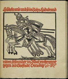 Rudolph Koch, Das Hildebrandlied , Wilhelm Gerstung, Offenbach, x cm Gothic Fonts, Decorated Envelopes, Calligraphy Letters, Ex Libris, Letter Art, Zine, Art Reference, Graphic Design, Type Design