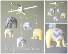Baby  mobile  Custom Baby Mobile  Elephant Mobile  by LoveFeltXoXo, $130.00