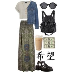 the money, coffee and shoes...why? dress, shirt, bag and sunnies are lovely.