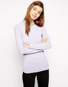 Image 1 of ASOS Sweater With High Neck And Embellishment