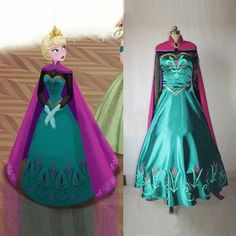 Disney Frozen princess Anna cosplay Long Sleeve Formal costume Adult Clothes HOT in Dresses | eBay