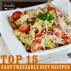15 easy to assemble freezable diet recipes