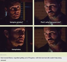 [GIFSET] 8x05 Blood Brother #Vampirates, #Dean, #Benny