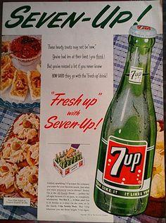 vintage magazine advertisements   7UP Soda 1955 Vintage Magazine Advertisement Soda by Inkart