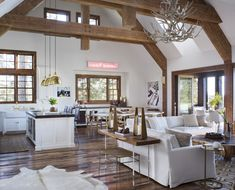 Tour Giuliana Rancic and Bill Rancic's Idaho Vacation Home Architectural Digest, Outdoor Seating Areas, Indoor Outdoor Living, Celebrity Houses, Rustic Design, Rustic Style, Idaho, Great Rooms, Living Spaces