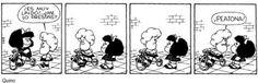 A no olvidar que somos todos #peatones  #Mafalda #Susanita