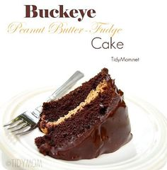 Buckeye Peanut Butter-Fudge Cake
