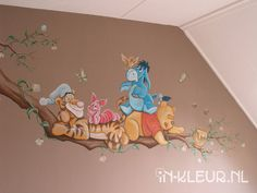 winnie the pooh Disney Baby Rooms, Baby Boy Rooms, Baby Disney, Baby Bedroom, Baby Wall Art, Mural Wall Art, Disney Baby Zimmer, Winnie Pooh Kindergarten, Disney Mural