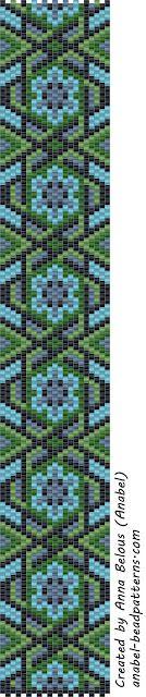 3 schemes mosaic bracelet / 3 free peyote patterns (Russian)