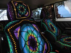 TIE DYE car seat covers car front seat covers BOHO chick Tie die
