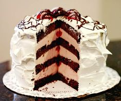 Ice cream cake was originally made from biscuits and cream. Description from aboutcakerecipes.blogspot.com. I searched for this on bing.com/images