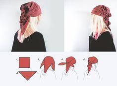 Estilo lenço de cabeça 6 maneiras fáceis