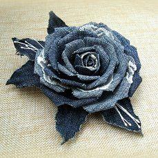 Tissue Flowers, Satin Flowers, Fabric Flowers, Paper Flowers, Denim Flowers, Denim Crafts, Recycle Jeans, Handmade Flowers, Flower Making