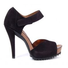 Pedro Garcia suede high heel sandal with ankle strap #shoes #heels #sandals #suede