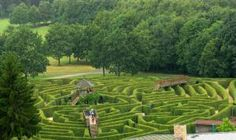 Europe's largest open air shrub labyrinth, designed in 1992 by British landscape artist Adrian Fisher.  It is built with 17,000 Hornbeam shrubs.