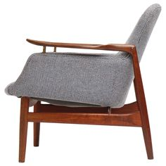 NV53 Easy Chair by Finn Juhl   From a unique collection of antique and modern armchairs at https://www.1stdibs.com/furniture/seating/armchairs/