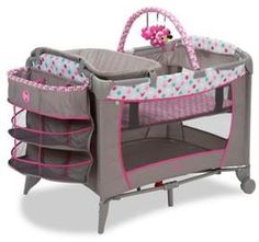 Shop for Disney Baby Sweet Wonder Play Yard in Minnie Dot Fun with Storage. Get free delivery On EVERYTHING* Overstock - Your Online Baby Gear Shop! Baby Pack And Play, Pack N Play, Disney Babys, Baby Disney, Disney Play, Disney Disney, Silikon Baby, Baby Mouse, Minnie Mouse