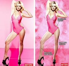 Female Hollywood Celebrities Before And After Photoshop ~ Barbie Craze