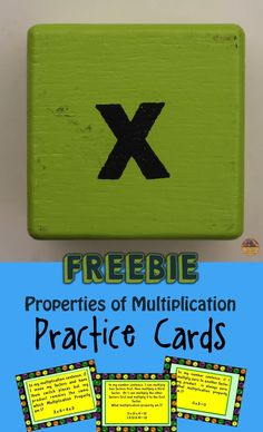FREEBIE: 16 cards for the Properties of Multiplication. Use them flexibly as an exit ticket, put them in a center, make a game from them or just use them for small group instruction. Come get this FREEBIE!