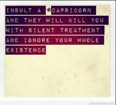 Insult a Capricorn and they will kill you with the silent treatment and ignore your whole existence. Yeah, I'm a Capricorn! Capricorn Quotes, Capricorn Facts, Capricorn And Aquarius, Capricorn Lover, Horoscope Capricorn, Horoscopes, Great Quotes, Quotes To Live By, Me Quotes