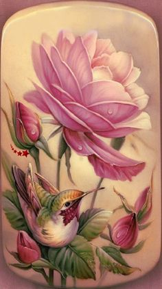 Diamond Painting Hummingbird and Pink Roses Kit Bff Drawings, Hummingbird Art, Beautiful Rose Flowers, Painted Books, 5d Diamond Painting, Drawing Skills, Easy Paintings, Vintage Flowers, Diamond Art