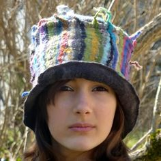 ema handmade felt and cotton hat by jannio on Etsy