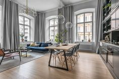 Stunning apartment located in Stockholm, Sweden, designed in 2017 by Balthaz Interior.