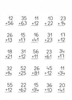 Addition no regroup 3rd Grade Math Worksheets, School Worksheets, 1st Grade Math, English Worksheets For Kindergarten, Math Literacy, Homeschool Math, Math Classroom, Teaching Math, Math Sheets