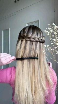 Hairdo For Long Hair, Easy Hairstyles For Long Hair, Diy Hairstyles, Hair Tips Video, Hair Videos, Front Hair Styles, Medium Hair Styles, Hair Style Vedio, Hair Cutting Videos
