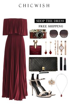 Shop Sexy Trending Dresses – Chic Me offers the best women's fashion Dresses deals Classy Outfits, Chic Outfits, Trendy Outfits, Dress Outfits, Fashion Dresses, Estilo Miranda Kerr, Frack, Pleated Maxi, Mode Outfits
