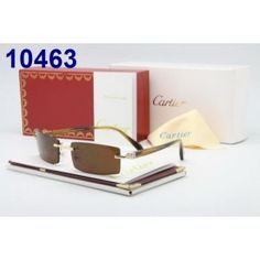 Cartier Sunglasses Gold Rimless Buffalo G2002