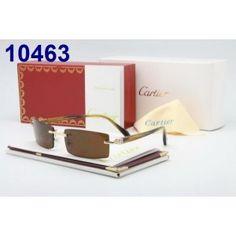 Cartier Sunglasses Gold Rimless Buffalo G2002