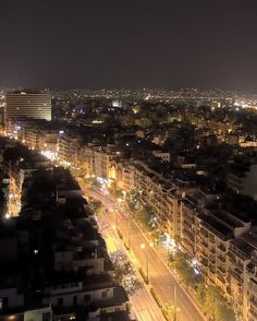 Kifissias Avenue at night, Athens