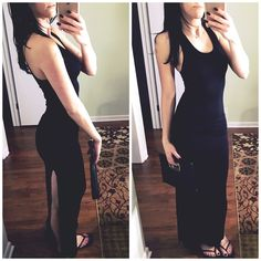 • Black maxi dress • Size small black long maxi dress. Worn once and in perfect condition.   ❌No trades  Non smoking home  Same/next day shipping Garage Dresses Maxi