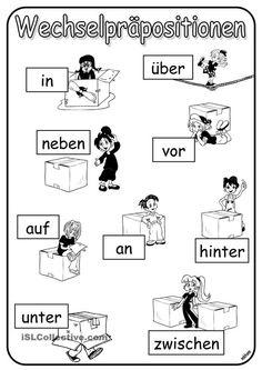 Nyelvtani magyarázatok :: Lupán Német Online Study German, German English, Learn German, German Grammar, German Language Learning, Prepositions, Sentences, Kindergarten, Preschool
